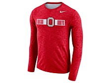 Men's Ohio State Buckeyes Dri-Fit Cotton Slub Long Sleeve T-Shirt