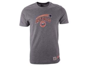 New Era Men's Houston Astros Pinstripe Crew Top Ii