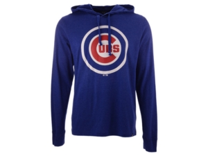 '47 Brand Men's Chicago Cubs Imprint Club Long Sleeve Hooded T-Shirt