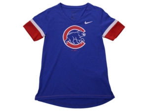 Nike Youth Chicago Cubs Girls V-Neck Hero T-Shirt