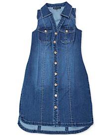 INC Sleeveless Denim Shirtdress, Created for Macy's
