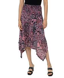 Printed Handkerchief-Hem Skirt, Regular & Petite Sizes