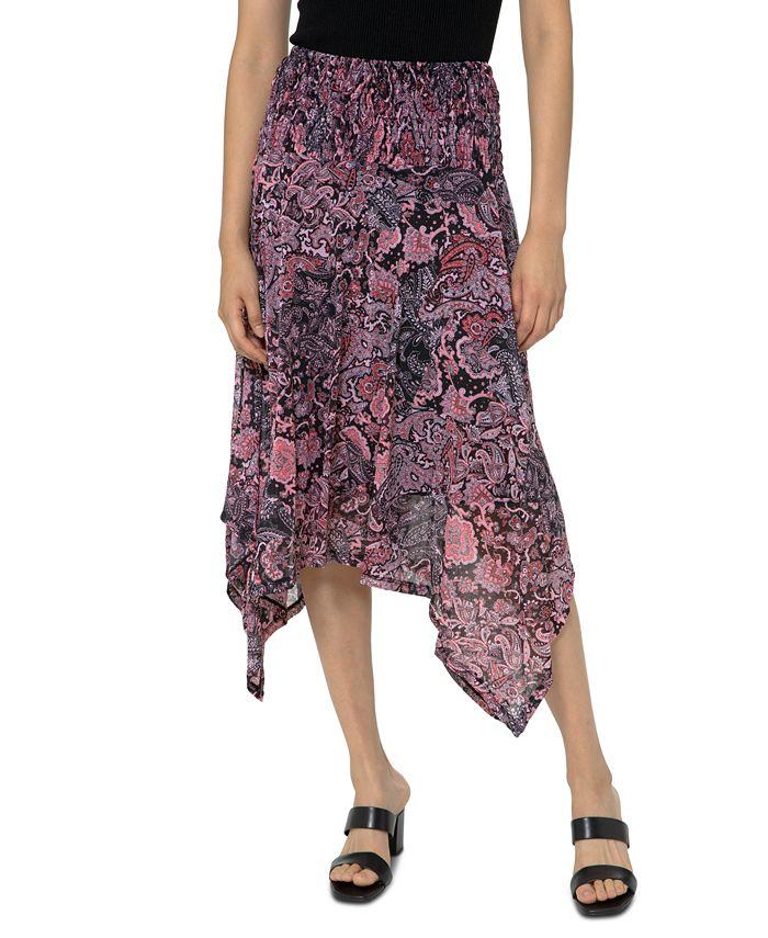 Michael Kors - Printed Handkerchief-Hem Skirt