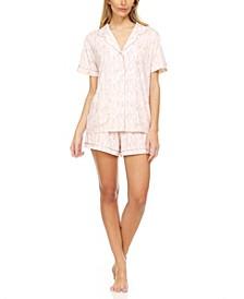 Printed Pajama Shorts Set