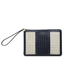 Ascot Weave Medium Ziptop Wristlet
