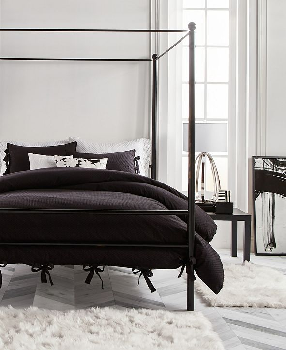 Karl Lagerfeld Paris Dot 3 Piece Comforter Set, Full/Queen
