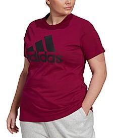 Women's Plus Size Cotton Badge of Sport Logo T-Shirt