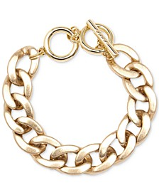 Gold-Tone Chain-Link Toggle Bracelet