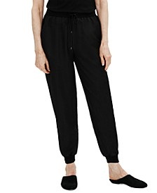 Silk Cropped Slouch Pants