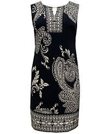 Petite Paisley-Print Sheath Dress, Created for Macy's