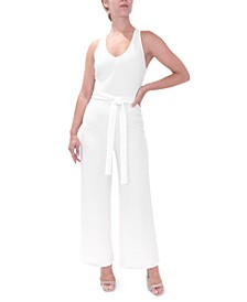 Crave Fame Juniors' Cross-Back Jumpsuit