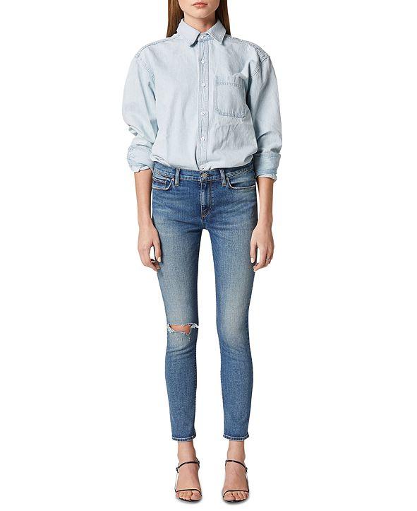 Hudson Jeans Nico Distressed Skinny Jeans