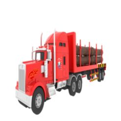 Mag-Genius Big-Daddy Big Rig Lumber Truck with 6 Piece Lumber Toy