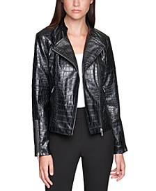 Zip-Up Moto Jacket