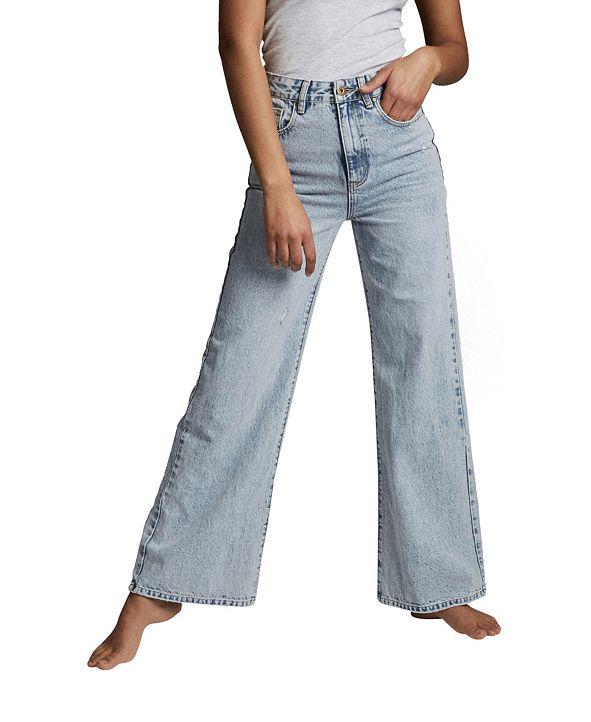 COTTON ON Long Wide Denim Jeans
