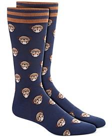 Men's Blue Pug Socks, Created for Macy's