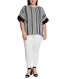 Plus Size Variegated Stripe Top