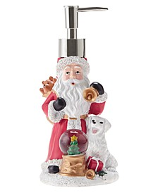 Santa with Snow Globe Holiday Lotion Pump