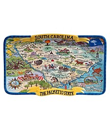 South Carolina Souvenir Rectangular Platter