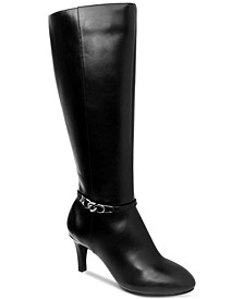 Hanna Wide-Calf Dress Boots, Created for Macy's