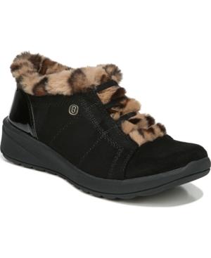 Golden Fur Trim Washable Slip-on Oxfords Women's Shoes