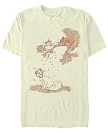 Men's Raining Petals Short Sleeve T-Shirt