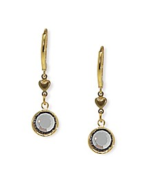 Gold-Tone Black Diamond Channel Crystal Drop Earring