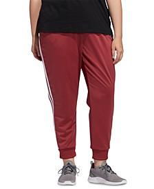 Plus Size Full-Zip Tricot Jogger Pants