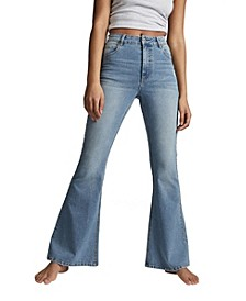 Vintage-Like Flare Denim Jeans