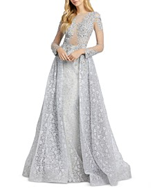 Lace & Beaded Gown