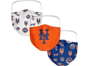 New York Mets 3-Pk. Face Mask