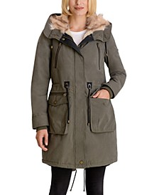 Faux-Fur Trim Hooded Anorak