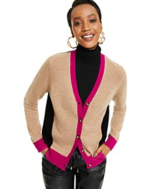 Cashmere Long Sleeve Boyfriend Cardigan, Regular & Petite Sizes, Created for Macy's