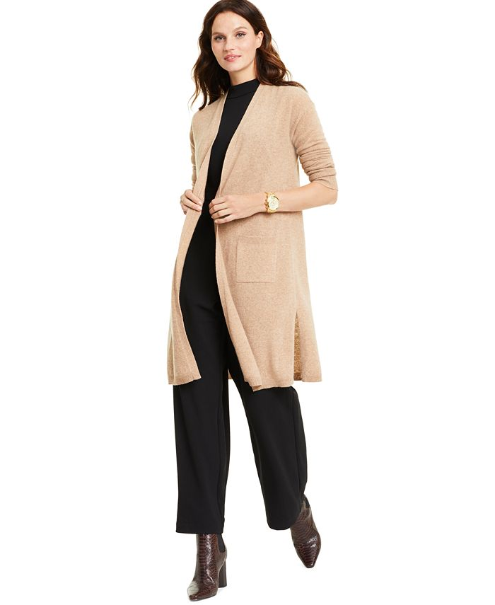 Charter Club - Cashmere Maxi Duster Cardigan