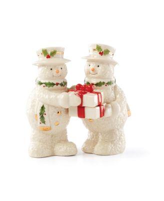 Happy Holly Days Snowman Salt & Pepper