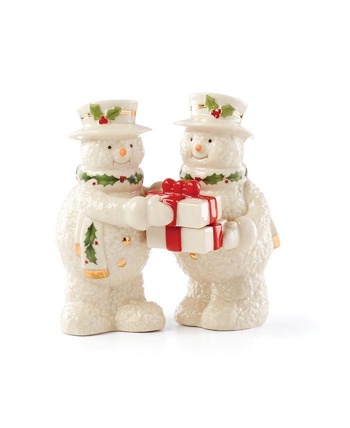 Lenox - Happy Holly Days Snowman Salt & Pepper