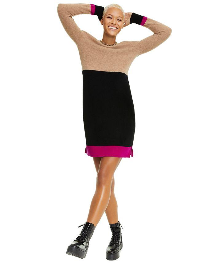 Charter Club - Colorblock Cashmere Sweater Dress