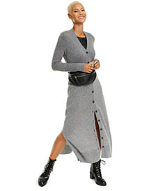 Charter Club Button-Down Cashmere Sweater Dress, Created for Macy's