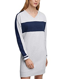 Logo-Embossed Sweatshirt Dress