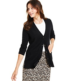 Cashmere Boyfriend Cardigan, Regular & Petite Sizes, Created for Macy's