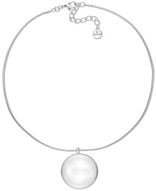 """Silver-Tone Orb Pendant Necklace, 19"""" + 3"""" extender, Created for Macy's"""