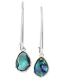 Silver-Tone Stone Linear Drop Earrings, Created for Macy's