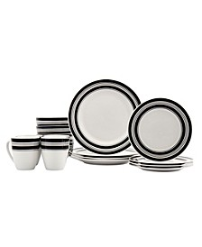 Tabletops Gallery Café Americana 16- PC Dinnerware Set, Service for 4