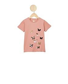 Toddler Girls Stevie Short Sleeves Embellished T-shirt