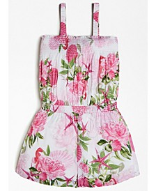 Big Girls Smocked Floral-Print Romper