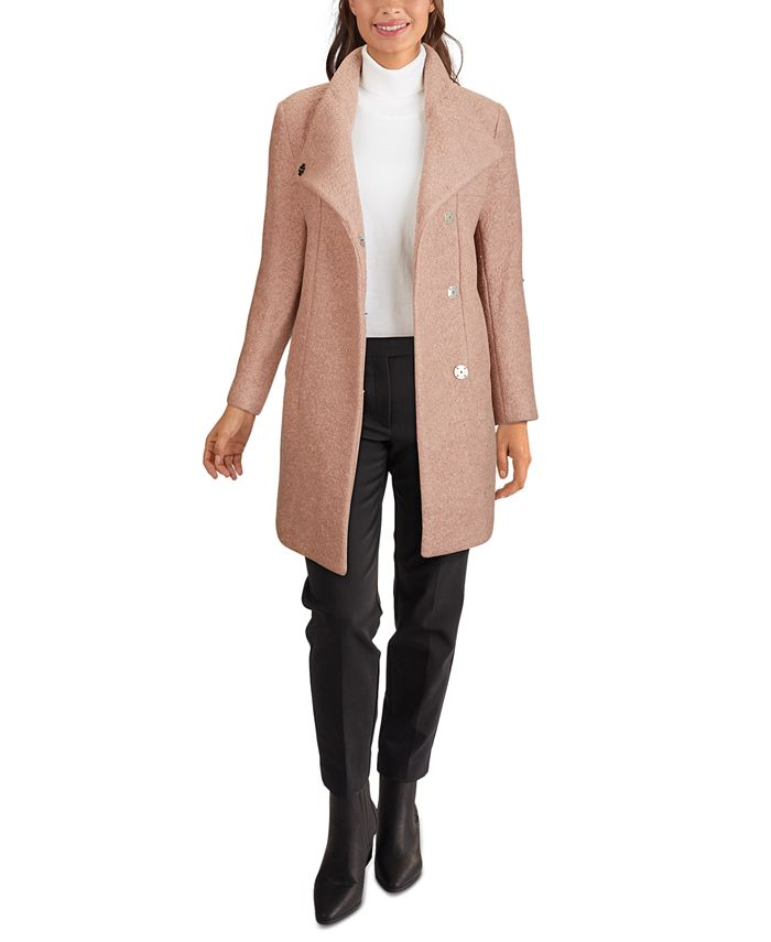 Kenneth Cole - Asymmetrical Bouclé Walker Coat