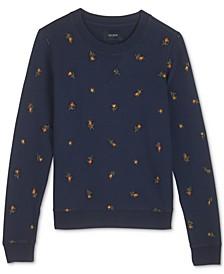 Cotton Embroidered Sweatshirt
