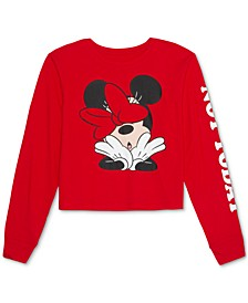 Juniors' Minnie Not Today Long-Sleeve T-Shirt