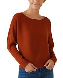 Juniors' Dolman-Sleeve Sweater