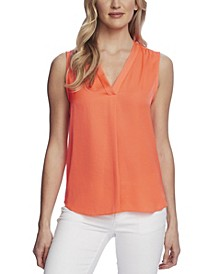 Women's Sleeveless V-Neck Blouse